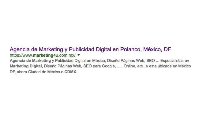 Aprendiendo a crear etiquetas meta descripción - Agencia de Marketing Digital, México | Marketing 4U